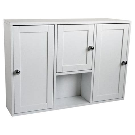 Bathroom Furniture Doors Buy 3 Door Bathroom Cabinet White From Our Bathroom Wall Cabinets Range Tesco