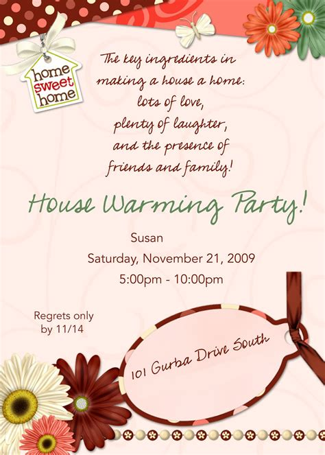 housewarming invitation card template house warming invitation
