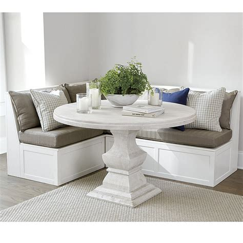 Corner Seating Bench by Breton 3 Banquette With Seat Back Cushions 30