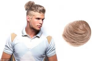 groupon haircut ta groupon now selling clip on man buns for men who want the