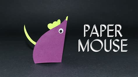 Mouse Paper Craft - paper mouse easy craft ideas for preschoolers
