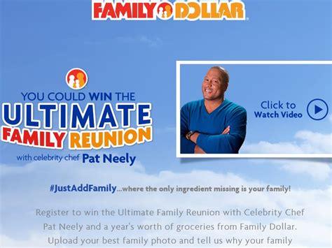 Family Reunion Sweepstakes - the family dollar the ultimate family reunion contest sweepstakes fanatics