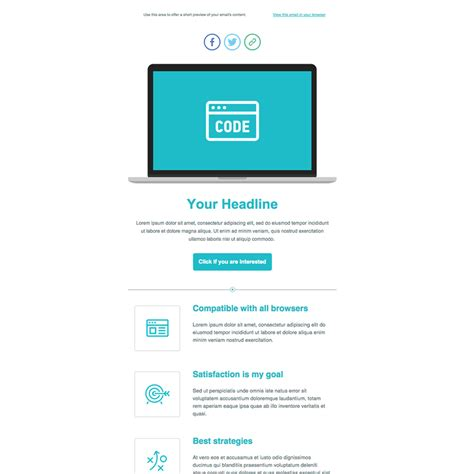 free html email template code product launch free responsive email newsletter template