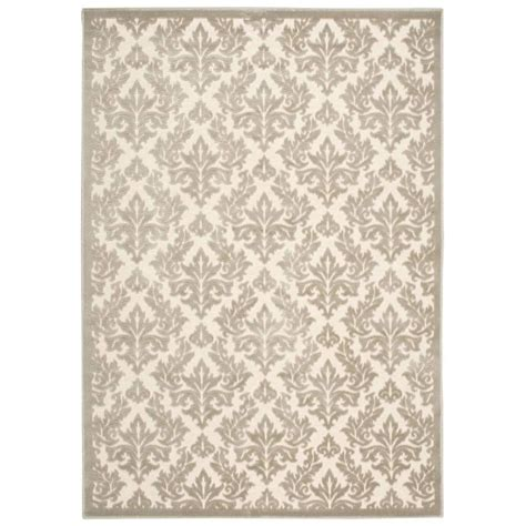 The Home Depot Area Rugs Nourison Somerset Ivory Blue 5 Ft 3 In X 7 Ft 5 In Area Rug 311955 The Home Depot