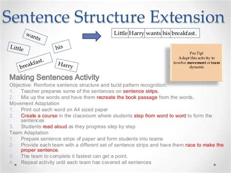 sentence pattern recognition shared reading extensions for the efl classroom