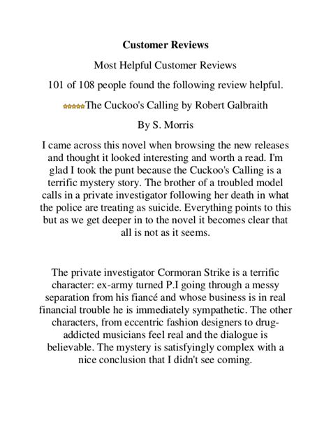 The Cuckoo's Calling By Robert Galbraith Download PDF