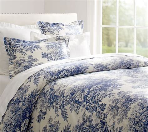 toile bedding matine toile duvet cover sham twilight blue pottery barn
