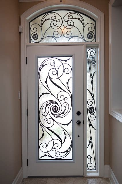 Wrought Iron Exterior Doors Classic Style Wrought Iron Door Inserts Entry Other Metro By Lusso Design Entry Doors