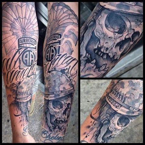 airborne tattoo designs airborne parachute skull bobby black ink tattoos