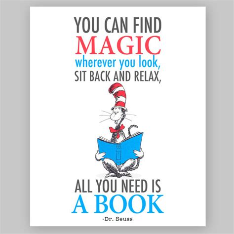 in this book you will find books dr seuss quote printable nursery quote you by lovedecorstudio
