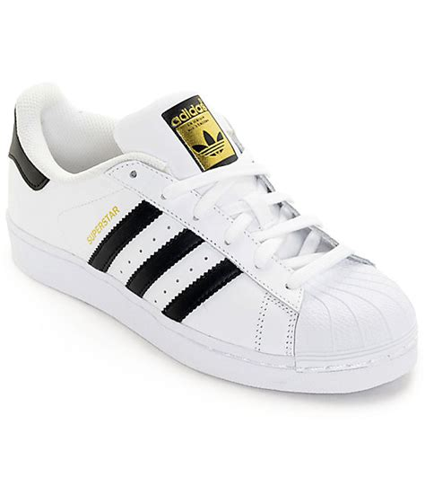 adidas superstar white black womens shoes