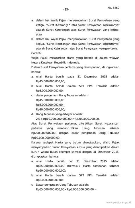 Surat Kuasa Untuk Tax Amnesty by Contoh Surat Pernyataan Harta Tax Amnesty Kabar Click