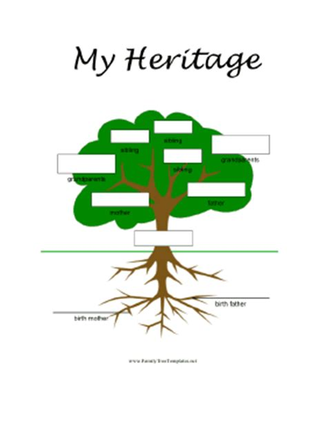 3 generation family tree template word adoptive family tree template