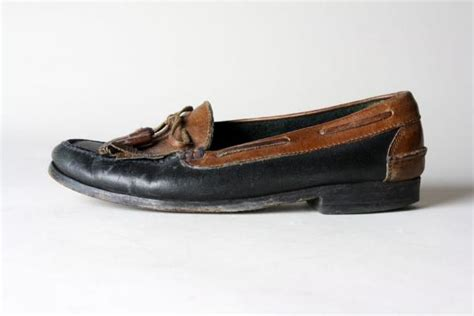 cole haan two tone loafer vintage cole haan country two tone black brown tassel