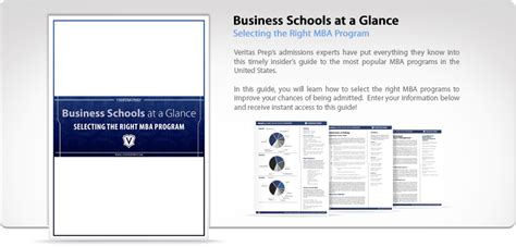 Veritas Mba Guide by Free Mba Admissions Guide Business Schools At A Glance