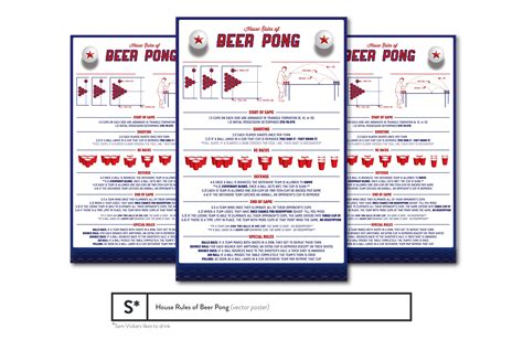 House Rules Of Beer Pong Poster Flyer Templates On Creative Market Free Pong Flyer Template