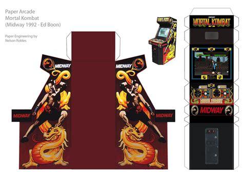 Papercraft Arcade - papercraft arcade mk by nelsonrobles on deviantart