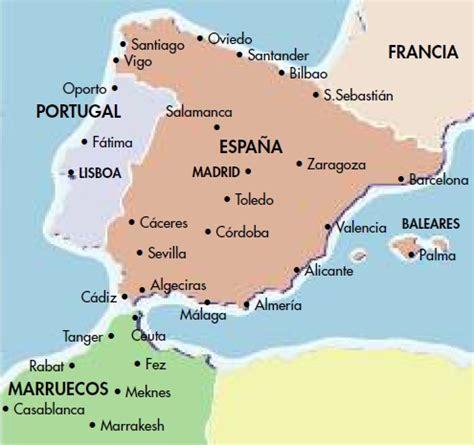 espana y africa mapa relaciones entre espa 241 a y el norte de africa