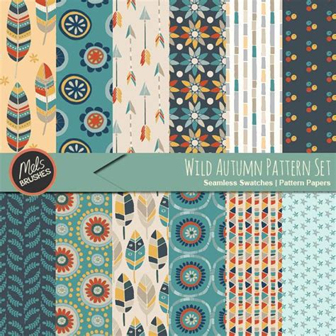 12 free seamless paper patterns graphicsfuel wild autumn digital paper pattern collection 12 designs