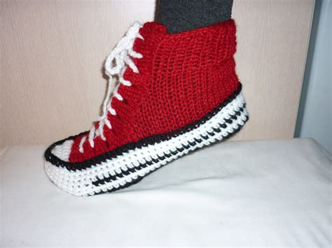 knitted converse slippers converse slippers crochet converse slippers crochet