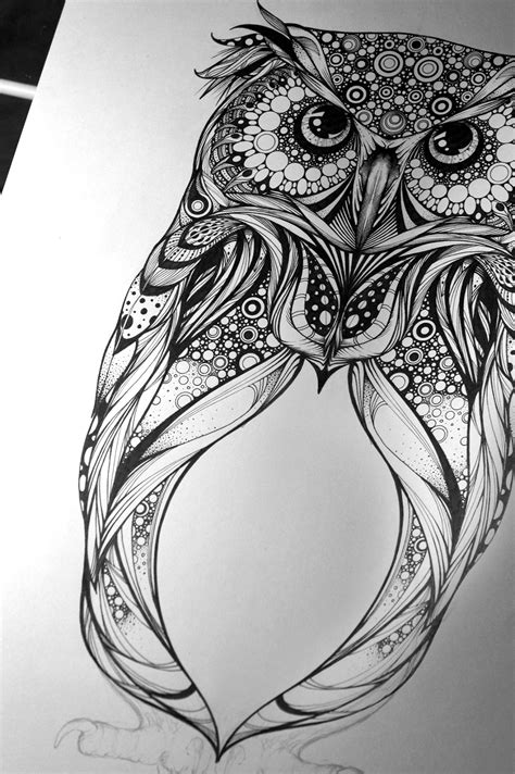 mandala eagle tattoo spotted eagle owl commission for hoot watches on