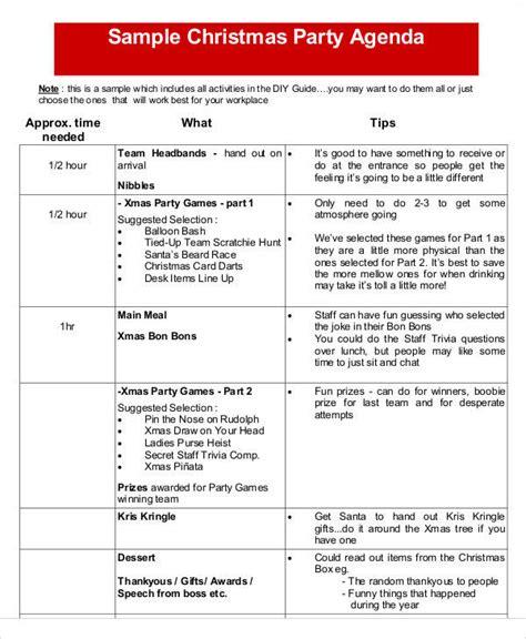 christmas agenda template 42 free agenda templates sle templates
