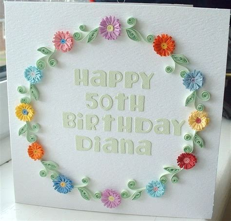 Handmade Quilling Paper - items similar to handmade birthday card paper quilling