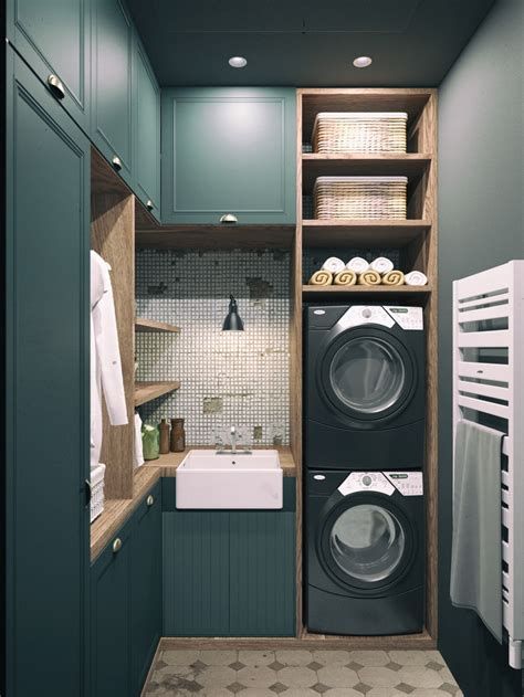 19 Fabulous Ideas How To Add Color To Your Laundry Room Green Laundry