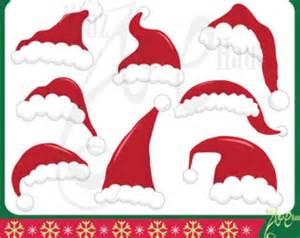 Hat setsanta claus hatchristmasprintable xmasred santa hat clip