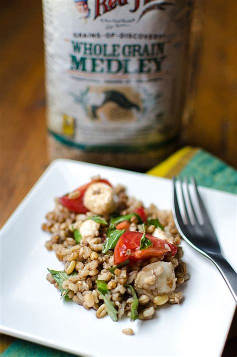 made with whole grains caprese grain salad made with whole grains for