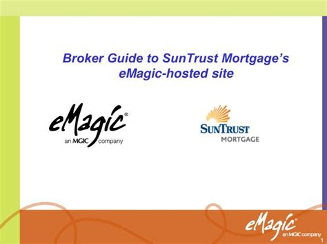 suntrust mortgage login