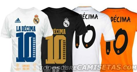 T Shirt La Decima real madrid la decima special shirts released by adidas