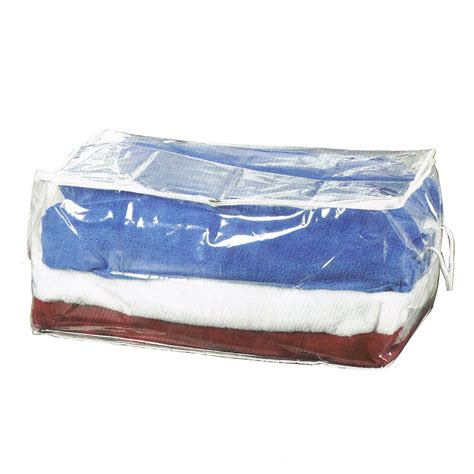 Optic 4 Pack 70 Litre Clear Plastic Clothes Bedding