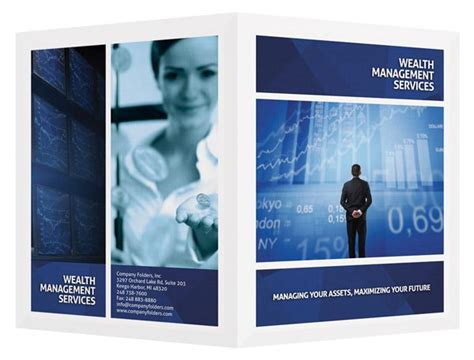 wealth management services folder design template free