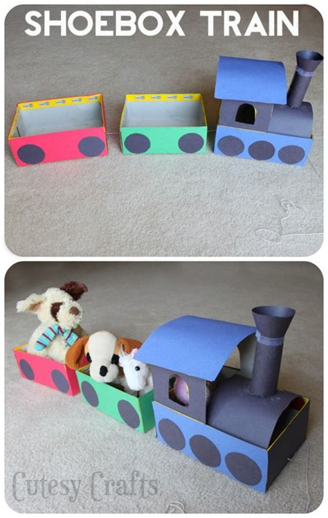 shoebox train craft  kids cutesy crafts