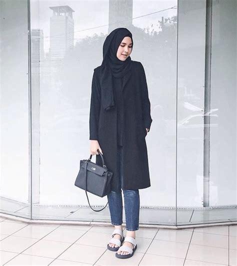 gaya fashion hijab casual terbaru
