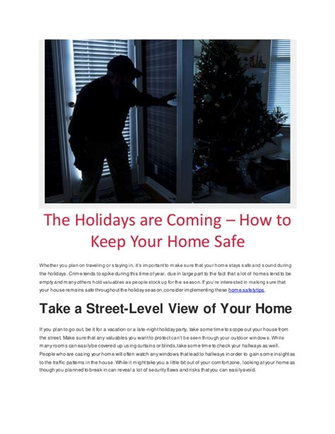 the holidays are coming how to keep your home safe