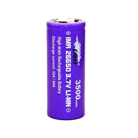efest purple imr 26650 3500 mah 3 7v li mn rechargeable battery flat top 64 high drain