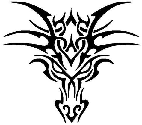 tribal dragon head tattoos 4 tribal tattoos for