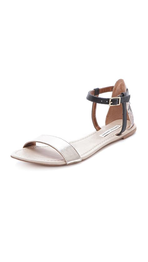 Twelfth St By Cynthia Vincent Snakeskin Shoes by Lyst Twelfth Cynthia Vincent Frida Flat Sandals