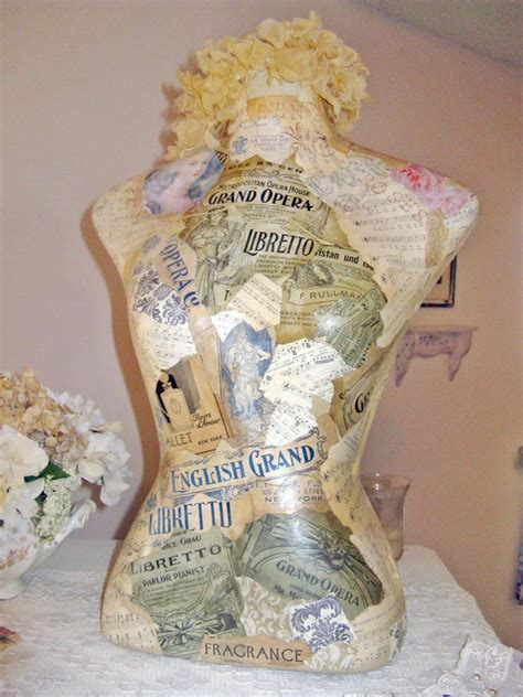Decoupage Mannequin - decoupage crafting hgtv