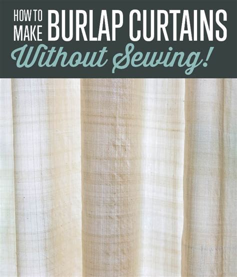 how to make simple curtains without a sewing machine how to make burlap curtains without sewing curtain