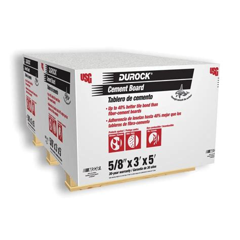 durock 5 8 in x 3 ft x 5 ft cement board 17296104005