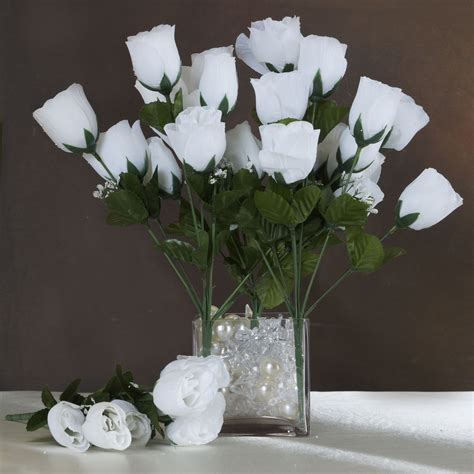 84 silk buds roses wedding flowers bouquets wholesale