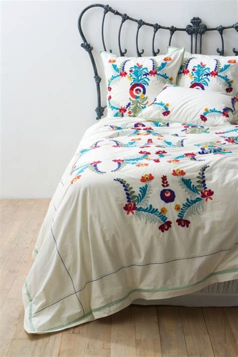 mexican embroidered bedding scandinavian style fits spring