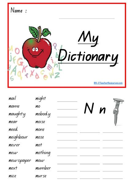 5 Letter Words Dictionary word spacing finger guides