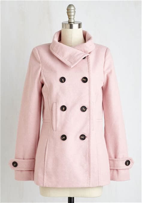 light pink pea coat the best of timeless coat in blush mod retro vintage
