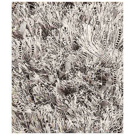 polyester shaggy rug lucetta woven polyester shaggy rug in silver dcg stores