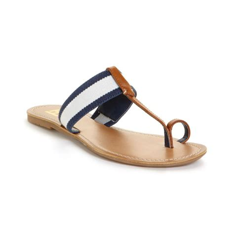 hilfiger flat shoes hilfiger lilly flat sandals in blue insignia