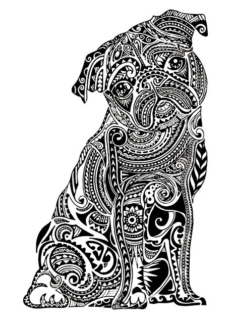 enlightened pugs coloring book books difficult buldog animals coloring pages for
